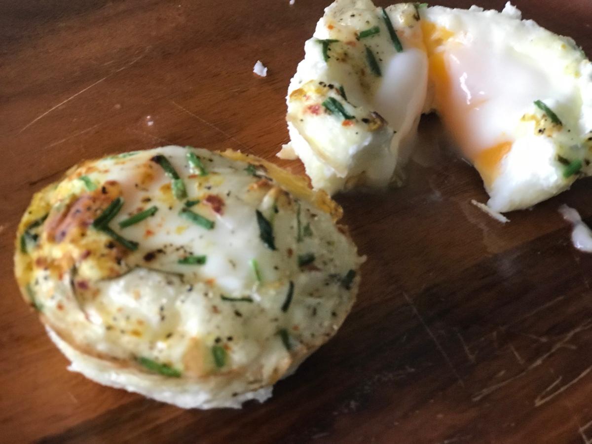Gebakken ei uit de oven